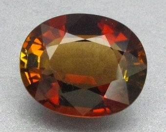 1.91 Ct Natural Tourmaline Yellow With Red Africa Unheated