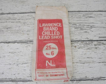 Vintage Lawrence Brand Sot Bag Lead Shot Ammo Bag Ammo Pouch