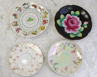 Choice- Antique/ vintage Saucer plate, porcelain china- Shumann Arzberg Bavaria, T&V France, Hand painted Japan, International Collection