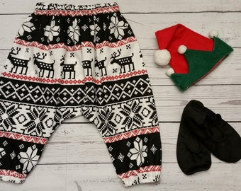 Toddler girls harem pants - Christmas Sweater- Sizes 3M to 18M available