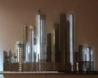 Industrial City Metropolis Wall Sculpture - in progress, new pictures coming soon