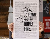 Vienna Lyrics Book Page Style - Billy Joel Lyrics Poster print, studio wall art, distressed typography print