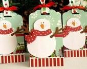 Christmas SNOWMAN Tags