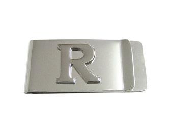 Monogram Letter R Money Clip