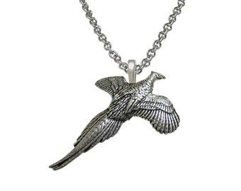 Pheasant Bird Pendant Necklace