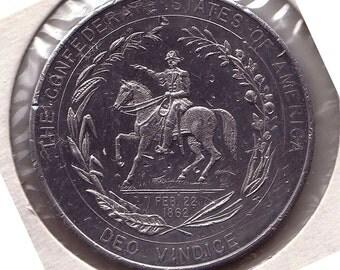 Confederate States of America Fantasy Half Dollar Deo Vindice Feb 22 1862