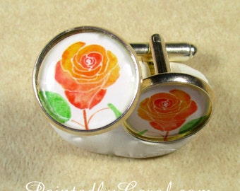 Easter egg cufflinks easter mens gifts flourish egg rose cufflinks rose mens gifts rose bridal jewelry rose wedding jewelry grooms negle Choice Image