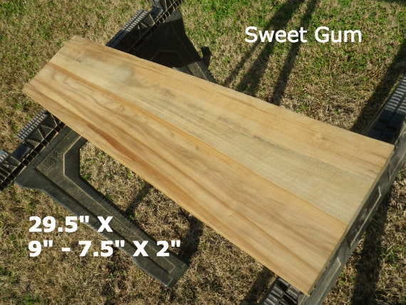 Live Edge Sweet Gum Wood Slab Finished Diy By Hurricanemilling