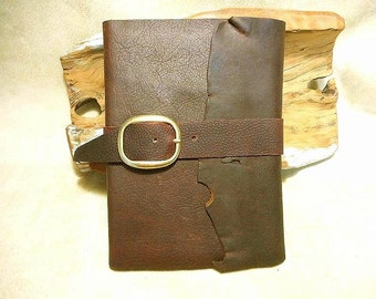 Leather Journal Handmade from Kodiak Leather- Refillable