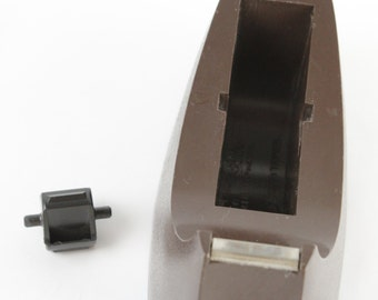 Vtg 3M Scotch Tape Dispenser 1970s 1980s Dark Brown