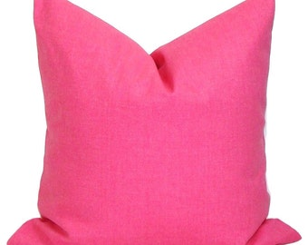 SOLID Pink Pillows, Pink Pillow Cover, Throw Pillow, Solid Pink Throw Pillow,18x18, 16x16, 22x22, 26x26 and MORE. Pink Euro. PInk Cushion