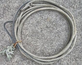 Vintage Retired Cowboy Rope Lasso Lariat Ranch Rope Texas Rope 24 Foot Rope No. 15