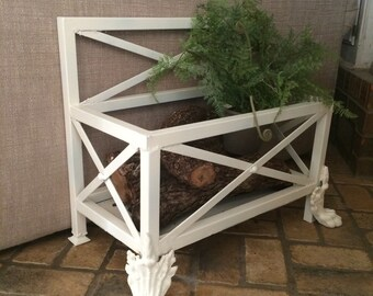 Vintage Iron Magazine Rack Iron Firewood Box
