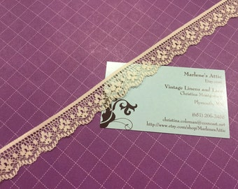 1 yard of 3/4 inch Ivory chantilly lace trim for bridal, baby, veils, altered couture, costume by MarlenesAttic - Item 9KK