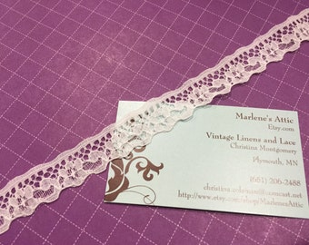 1 yard of 3/4 inch White lace trim for bridal, baby, housewares, sewing, crafts by MarlenesAttic - Item 2N