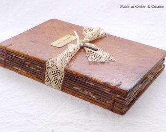 Rustic Hollow Book, Custom Proposal Ring Marriage Keepsake, Engagement Book Safe made from an antique French book