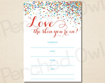 INSTANT DOWNLOAD - Love the Skin You're In Invitation - Direct Selling - Business Launch Party - Network Marketing - Digital File