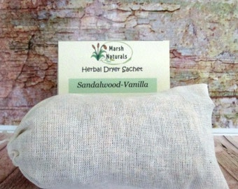 Sandalwood Vanilla Herbal Dryer Sachet | Chemical Free | Dryer Sheet Alternative | Eco Friendly