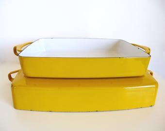 Vintage Dansk Kobenstyle Yellow Roasting Baking Casserole Pan