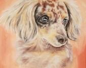 """11x14"""" Custom Dog Portrait - Pet Portrait Oil Painting"""