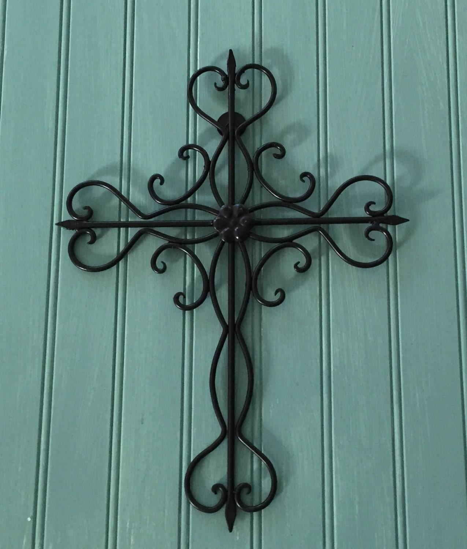 Black Decorative Cross / Metal Wall Cross / Cross Decor /Wall