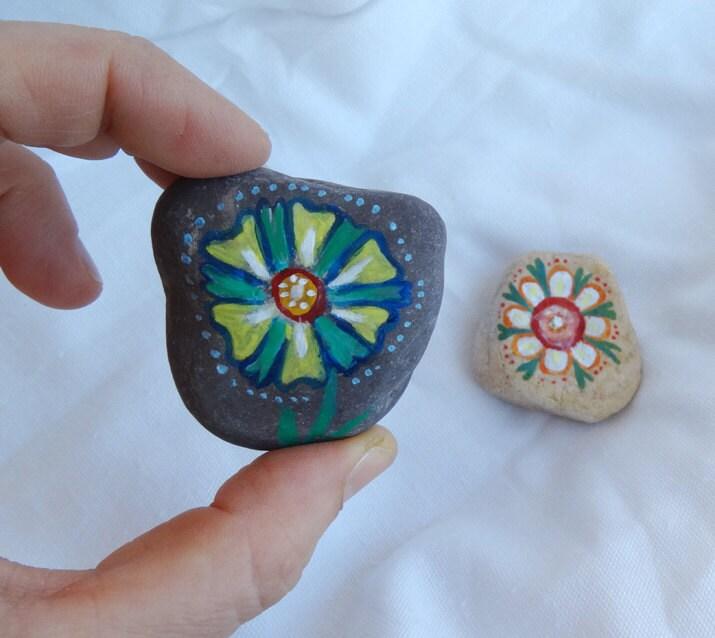 Pintado del guijarro piedras piedras de pinturas pintadas - Pintura para piedras ...