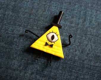 Bill Cipher, Fridge Magmnet, Gravity Falls Inspired