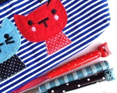 Nautical cat crochet hook set with pouch