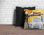 Decorative Pillow of Calvin and Hobbes Lazy Sunday