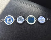 My Daddy is a Police Officer Bottle Cap Bracelet