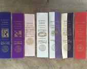 Vintage prize ribbons  / dog show / state fair prize ribbon