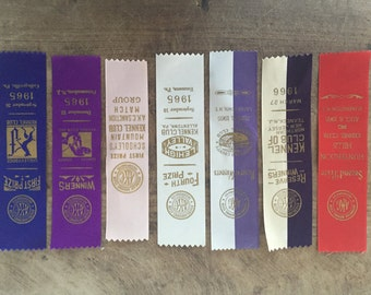 Vintage prize ribbons  / dog show / state fair prize ribbon