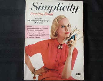 1957 Simplicity Sewing Book Softcover Beginner to Expert