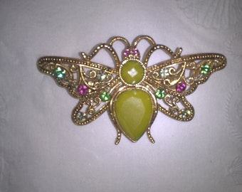 Butterfly Jeweled Pin Converts into Necklace