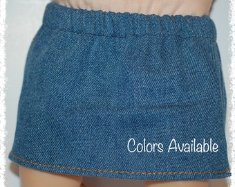 "Bitty Baby Denim Skirt / Colors Available (15"" doll)"