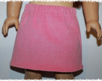 "18"" Doll  Skirt Pink Sparkle Corduroy (18"" doll - American Girl)"