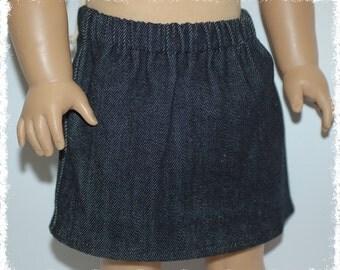 """18"""" Doll Denim Skirt - Black (18"""" Doll - American Girl)"""