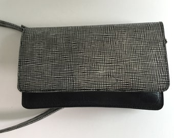 Black cross body clutch