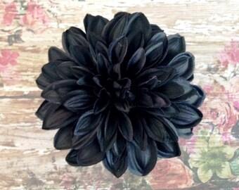Black Dahlia Hair Clip, Hair Accessories, Hair Flowers, Dahlia, Black Dahlia