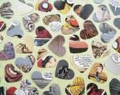 1 Inch Comic Book Confetti Hearts - Engagement Wedding Baby Shower Baptism - Superhero Decor