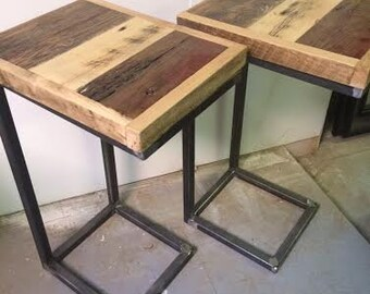 end table/side tables - reclaimed multi-color SET OF 2