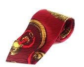 RESERVED Amore e Psiche silk Necktie by Versace // 90s