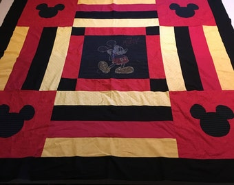 Mickey Mouse T Shirt Memory Quilt