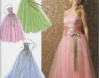 Misses/Miss Petite Simplicity 3878 Jessica McClintock Prom Special Occasion Bridesmaid Pattern, Size 4-12,   UNCUT