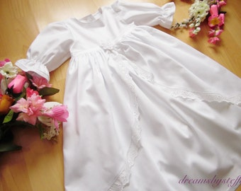 Christening gown overskirt with lace