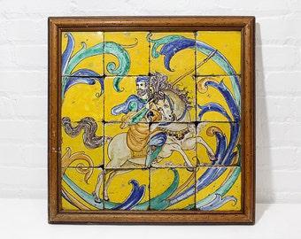 17th Century Talavera Mosaic from Seville Spain