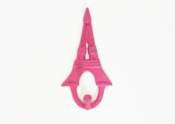 Eiffel tower decor wall hooks for kids towel by juxtapositionsc - Kids decorative wall hooks ...