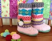 Crochet Baby Booties Legwarmers Knee Socks, Crochet Baby Girl, Accessories, Crochet baby boots shoes