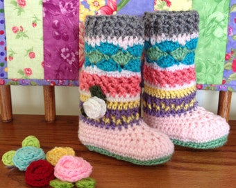 Crochet Baby Booties Legwarmers Knee Socks, Crochet Baby Girl, Accessories, Crochet baby boots shoes