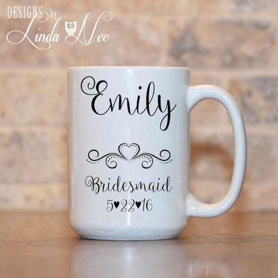 Personalized Bridesmaid Mug, Bridesmaid Gift, Bridesmaid Mug, Bridal ...